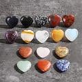 Новый минеральный кристалл в форме сердца рейки, натуральная кварцевая чакра, лечебный камень, подвеска из драгоценного камня, подарок «сде...