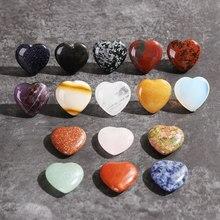 Reiki minerais em forma de coração, cristal de quartzo natural pedra preciosa de cura diy presente decoração caseira