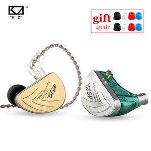 Image 1 - NEW KZ AS12 6BA In Ear Earphones HIFI Sport Monitor Headset Noise Cancelling Earphone Earbud AS16 AS10 AS06 ZS10 PRO ZSX C16 C12