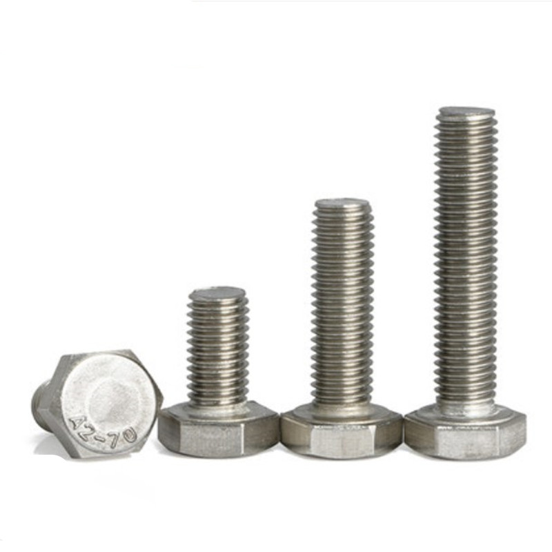 M6X70 A2 STAINLESS STEEL HEX HEAD BOLT PACK OF 10