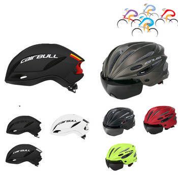 Cairbull 3 Lens Cycling Helmet Goggles Integrally-molded Bicycle 28 Vents Racing Road Bike Casco Ciclismo 55-61CM - discount item  35% OFF Cycling