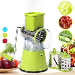 Roller-Cutter Blade Potato Food-Processor Kitchen-Slicer Vegetable Manual Stainless-Steel