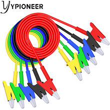YPioneer P1024 5PCS Alligator Clips Test Leads Dual Ended Crocodile Wire Cable with Insulators Clips Test Flexible Copper Cable