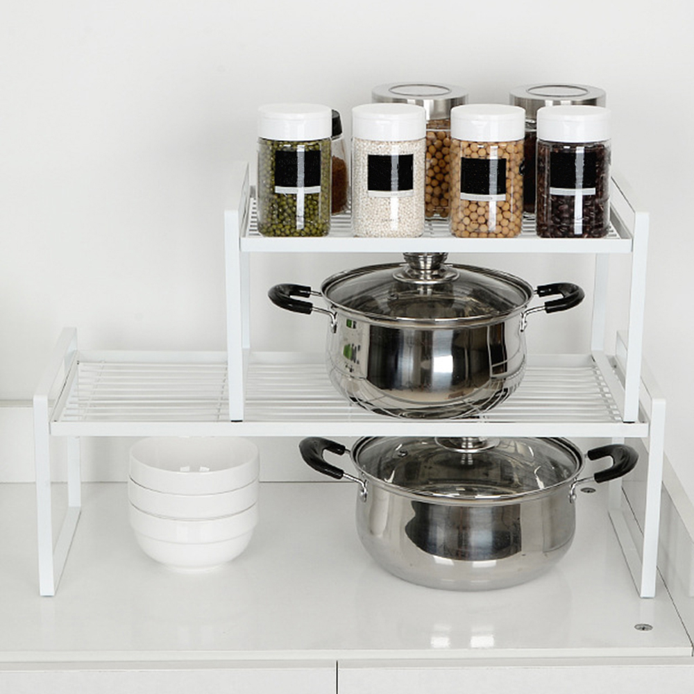 2019 New Multi-function Cabinet Layered kitchen Dishes Rack Iron Drain Plate Rack Dish Storage Shelf Kitchen Storage Accessories