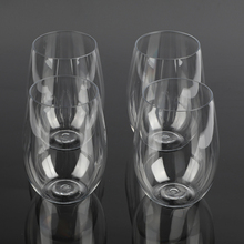 4 шт./компл. небьющиеся пластиковые бокалы для вина небьющиеся PCTG красные винные стаканы без ножки чашки Многоразовые прозрачные фруктовый сок пивная чашка
