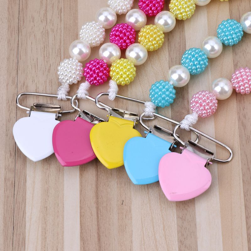 Hand Made Pearls Princess Baby Pacifier/ Nipples /Dummy /Chupeta Pacifier Clips U50F
