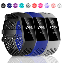 Coolaxy Accessories For Fitbit Charge 3/ 3SE Band Soft Silicone Waterproof Wristband Replacement Band For Fitbit Charge 3 Strap