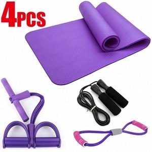 4pcs/Set 6mm EVA Yoga Mat Set Non Slip Pilates Gym Sports Exercise Yoga Mats for Beginner Fitness Equipment Gymnastics Mats