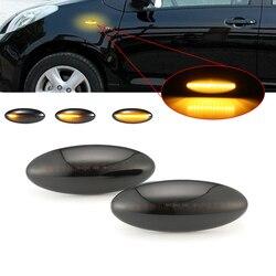 1 Pair LED Car Dynamic Side Marker Blinker Light Sequential Signal Lamp For Toyota Yaris COROLLA Mk1 E15 RAV4 Mk3 AURIS COROLLA