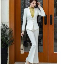 Fashion Women S-5XL Work V-Neck Pant Suit Office Lady OL Black White Jacket Blaz