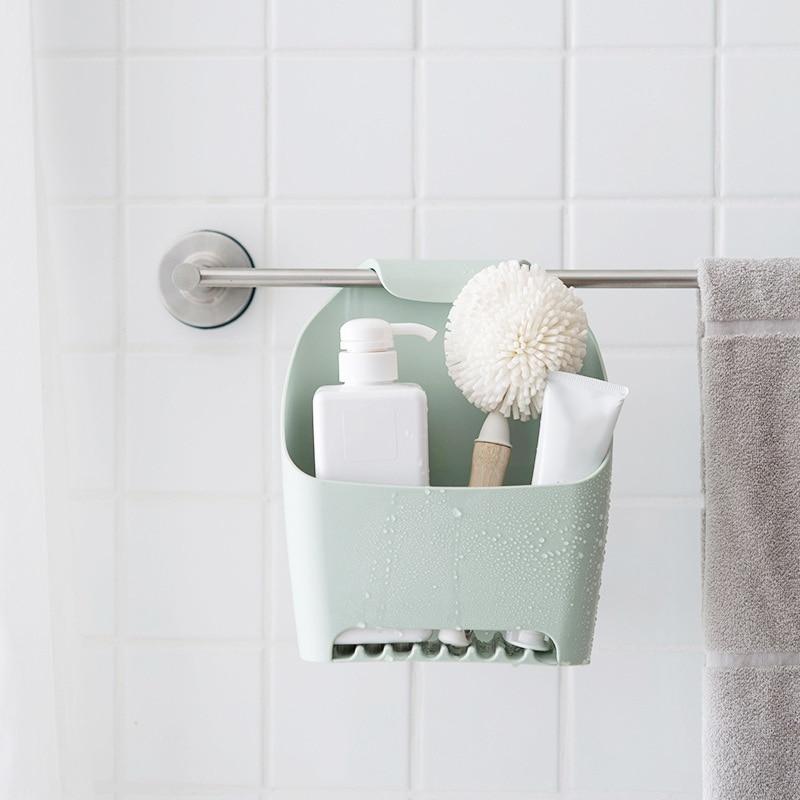 Hanging Drain Bag Bathroom Storage Bath Basket for Shower for Shampoo Cosmetics Products Bathroom Organier Household Items in Storage Shelves Racks from Home Garden