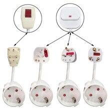 האיחוד האירופי Plug Socket האיחוד האירופי בריטניה Au נהדר דרום אפריקה Adaptador Enchufe עם מתג מחבר 1.5 כיכר 3500w 110  250v שימוש כללי