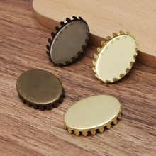 100pcs Oval Crown Bezel tray Settings 13x18mm 18x25mm Resin Cameo Cabochon Base Blanks DIY Findings Jewelry Accessories(China)