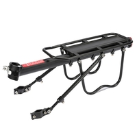 HOT-Bike Rack Aluminum Alloy Frame Luggage Rear Carrier Rear Rack Trunk for Bicycles MTB Bike Rear Shelf with Mounting Wrench