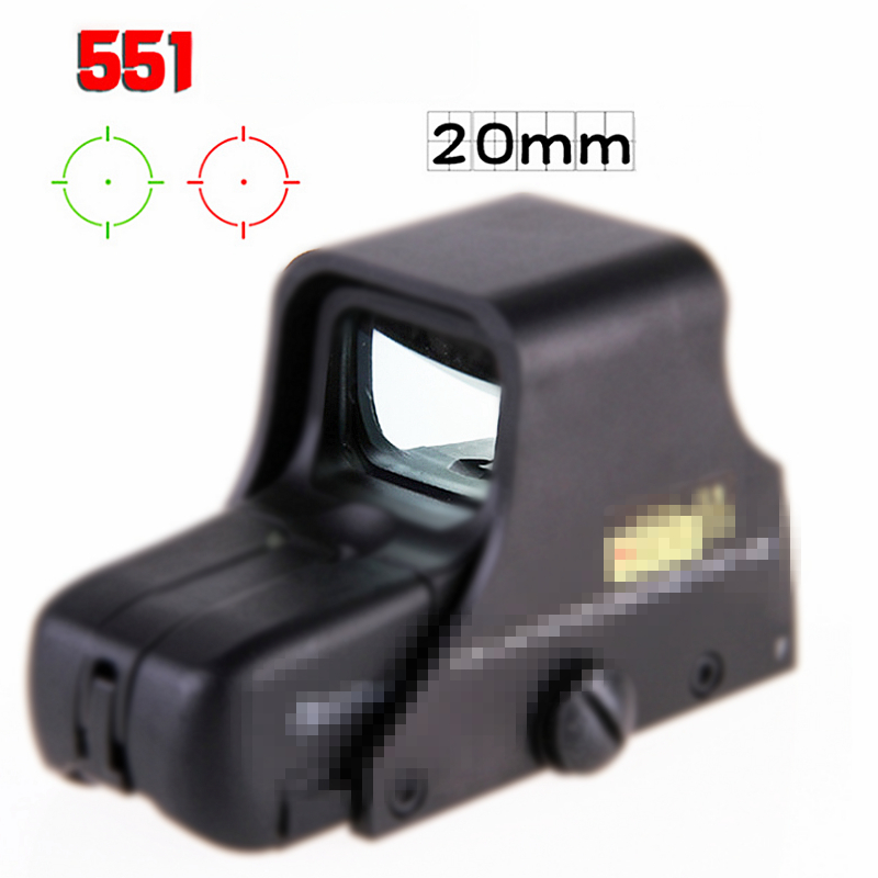 Airsoft 551 552 Batteries 556 type Holographic red /& green dot sight