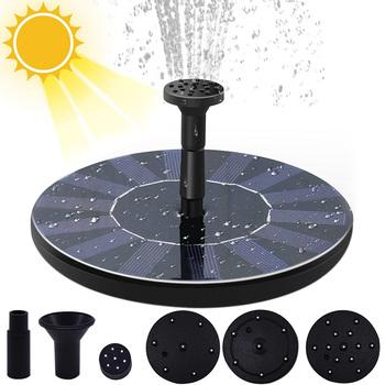 Mini fontanna solarna basen staw fontanna-wodospad dekoracja ogrodowa zewnętrzny ptak kąpiel zasilana energią słoneczną fontanna pływające do wody tanie i dobre opinie CN (pochodzenie) CH183 Z tworzywa sztucznego