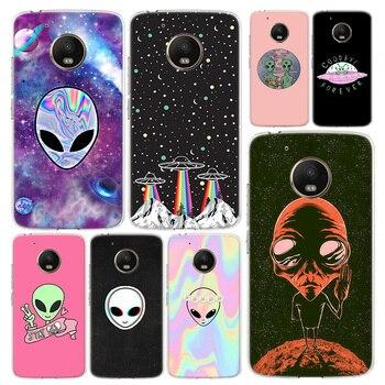 Funda de teléfono Alien Believe UFO funda para Motorola Moto G8 G7...