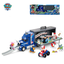 54cm Paw Patrol Bus Dog Toys Car Anime Figures Plastic Truck Toy Action Figure Transport Vehicle Model Children Birthday Gifts