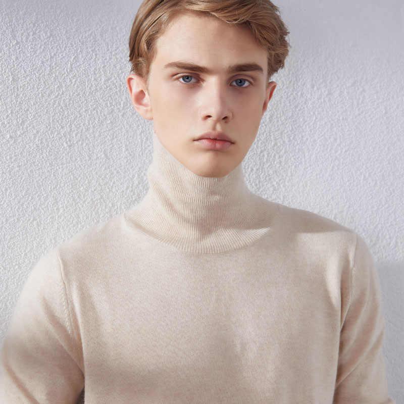 남자 스웨터 100% pashmina 뜨개질 풀오버 2019 새로운 도착 8 색 터틀넥 순수 캐시미어 점퍼 겨울 따뜻한 옷 탑스