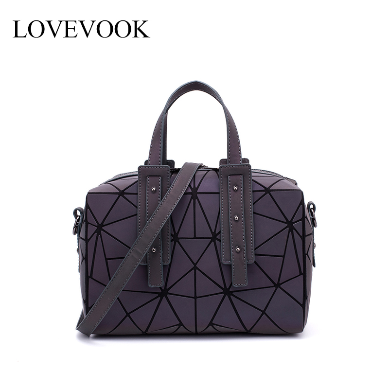 LOVEVOOK Women Handbag With Top Handle Crossbody Bags For Ladies 2019 Large Capacity Geometric Pillow Bag Holographic Reflection
