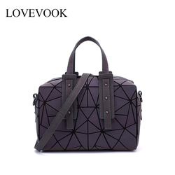 Lovevook bolsa feminina com alça superior crossbody sacos para senhoras 2019 grande capacidade geométrica travesseiro saco reflexão holográfica
