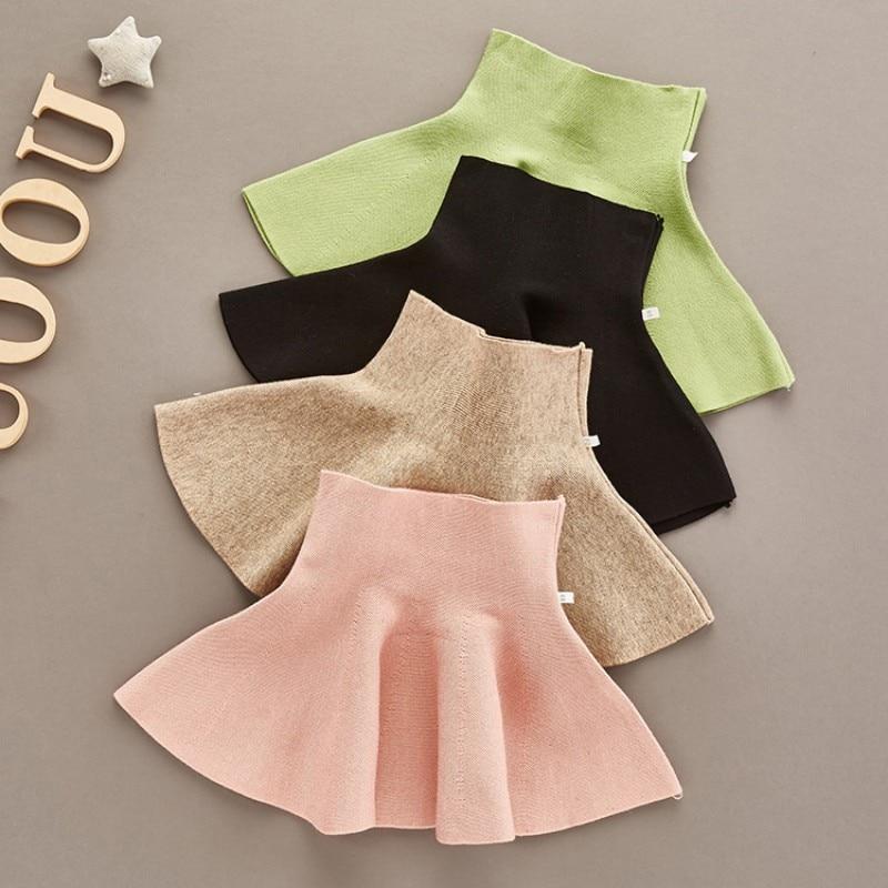 2019 School Girls Knit Skirt Baby Toddler Children Clothing Bottoming High Waist Princess Pleated Skirts Kids Children Clothes2