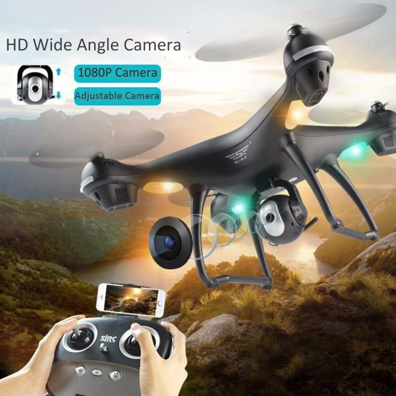 SJRC S70W Dual GPS Follow Me WIFI FPV RC Drone Helicopter 400M Distance 1080P HD Camera GPS Position Quadcopter VS X183 X21 image