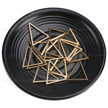 10-500 Pcs Brass Charms Lots Wholesale for Jewelry Making Hollow Thick Triangle Geometric Metal Finding Lots Wholesale 6p510 wholesale baby kids boutique clothing lots