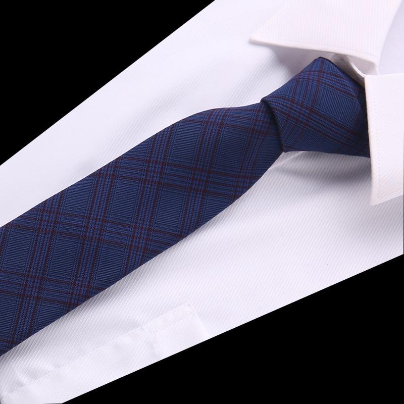 Fashion Cotton Tie 6.5 Cm Necktie Narrow Gravata Striped Skinny Ties Men Business Formal Wedding Designer Cravat Men Necktie
