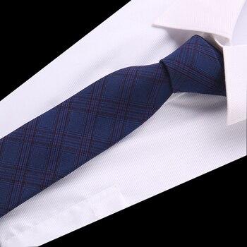 Fashion Cotton Tie 6 cm Necktie Narrow Gravata Striped Skinny Ties Men Business Formal Wedding Designer Cravat Men Necktie fashion men s colourful tie luxury necktie solid color narrow 6 cm slim skinny woven narrow neckties men s tie gift