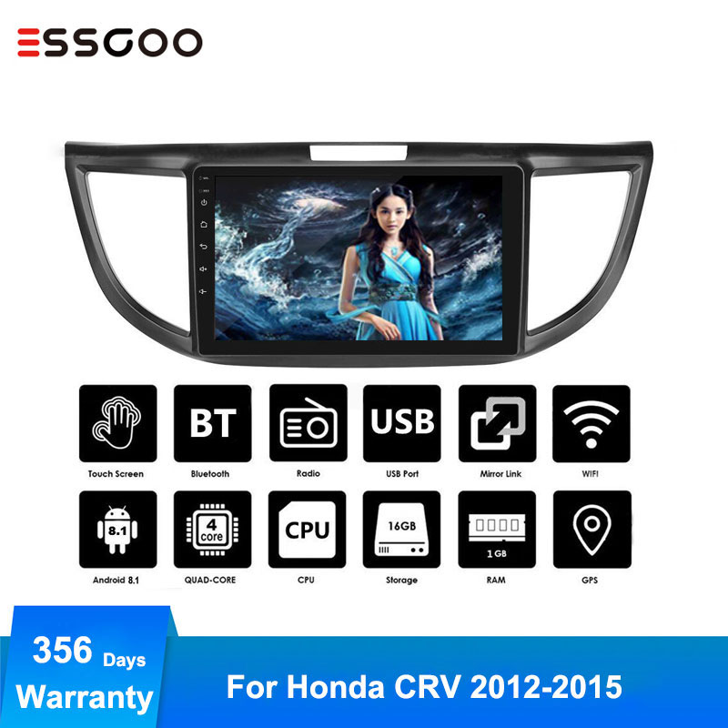 Essgoo Android 8.1 Auto Car Radio Central Multimidia Audio Player Navigation GPS 2 Din for Honda CR-V CRV 2012-2015 2din WIFI image
