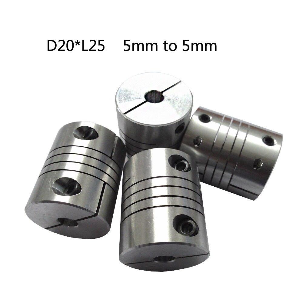 2PCS Aluminum Shaft Coupling Rigid Coupler Flexible Motor Connector Tool Useful