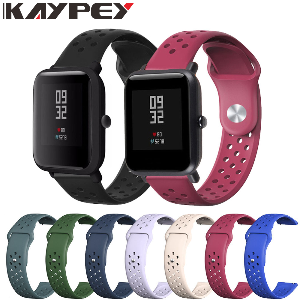 Silicone Replacement Strap For Amazfit Bip Bracelet For Xiaomi Amazfit Bip Youth Sport Watch Band 20MM Wrist Strap Accessories