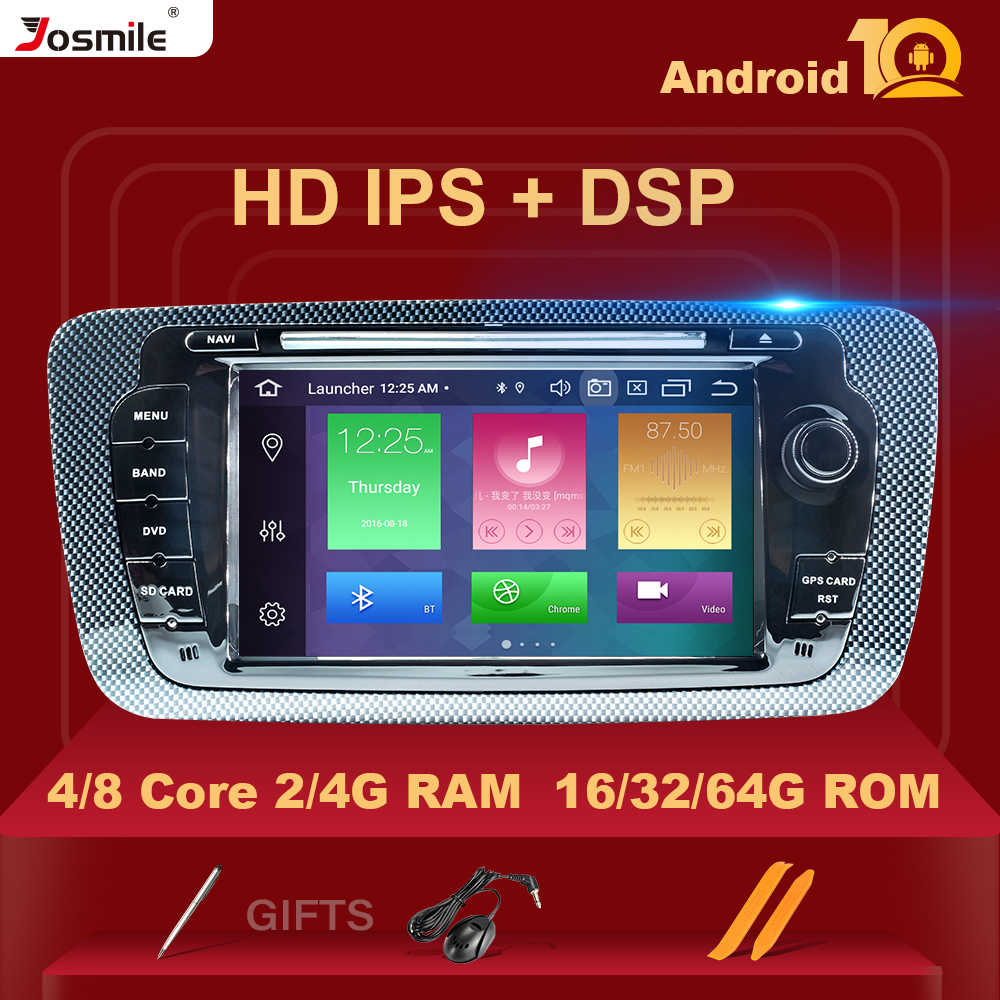 Dsp ips 2Dinアンドロイド 10 autoradioマルチメディア座席イビサのための 6J MK4 スポーツクーペecomotiveキュプラ 2009 2010 2011 2012 2013 gps dvd