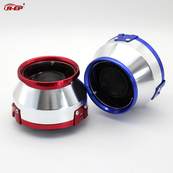 R-EP Universal Car Sport Air Filter 76mm for Most of Car 3inch Open High Flow Air Intake Filter Box Red Blue XH-UN075 universal car air filter 76mm 3in cone shaped high flow cold air intake mesh filter black mushroom head motorbike cleaner new
