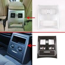 Linha traseira interna do carro ar condicionado ventilação quadro capa guarnição caixa de armazenamento painel capa para bmw série 3 e90 2005-2012 acessório do automóvel