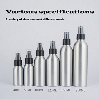 40ml/50ml/100ml Aluminum Spray Bottle Silver Portable Mini Perfume Bottles Empty Refillable Cosmetic Sprayer Atomizer 100ml empty perfume bottle plating dropper glass bottle perfume liquid makeup containers refillable package golden silver