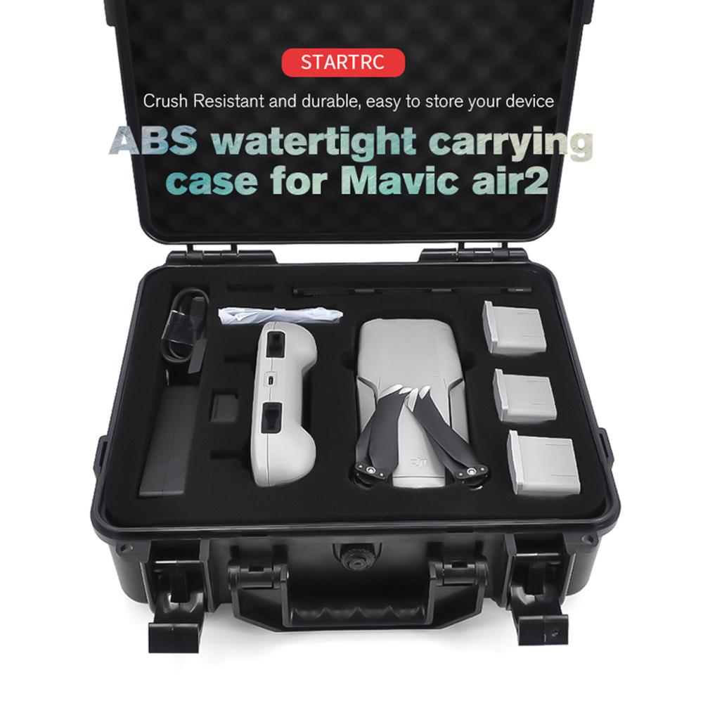 ABS Anti-explosion Waterproof Box Storage Portable Carrying Case Bag For DJI Mavic Air 2 Drone Accessories