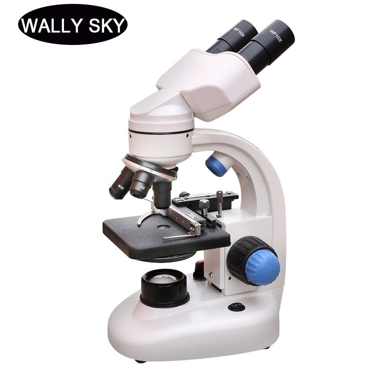 2000X Binocular Microscope LED Lighted Biological Microscope Educational Student Science Experiment With Smartphone Clip