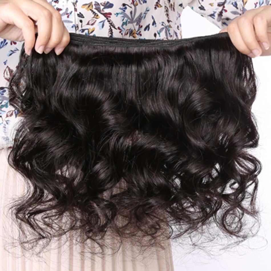 Código Calla 100% paquetes de cabello humano cabello ondulado suelto peruano 1/3/4 piezas 8-28 Natural extensiones de Cabello virgen Color negro