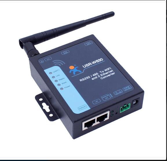 RS232/RS485 And WIFI, WiFi And Ethernet,  Industrial Serial To WIFI And Ethernet Converter Supports 2 Ethernet Ports, Modbus RTU