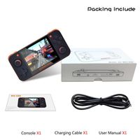 New Free With 32G TF Card IPS Screen Portable Video Game Console Handheld Game Console RG350 Retro Game Console