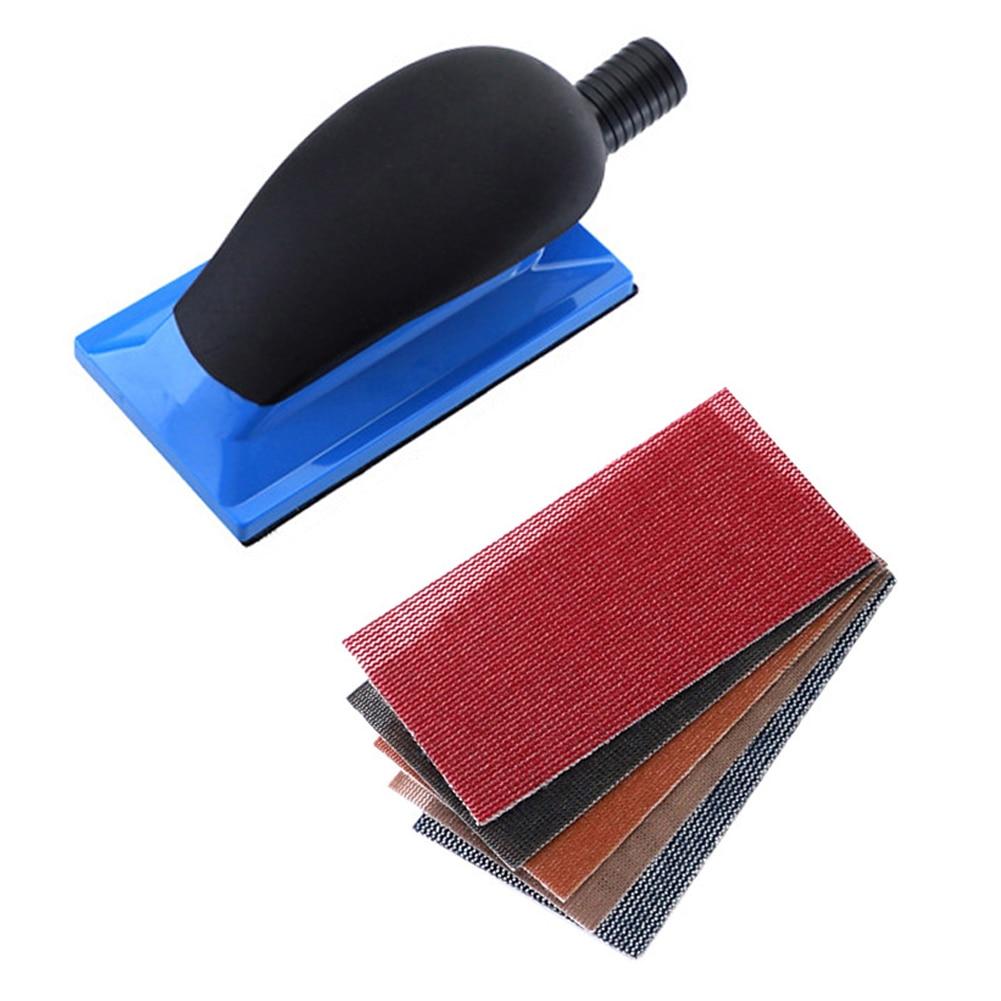 Vacuuming Hand Grinding Plate Dustless Grinder Vacuum Hand Push Plate Grinding Plate With Sandpaper Sheet Spray Paint Home Tools