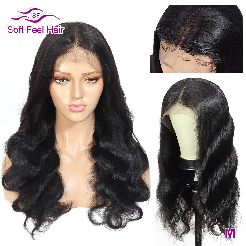 Soft Feel Hair Body Wave Lace Front Human Hair Wigs 13x4 Transparent Lace Wig Remy Brazilian Wig For Black Women 150% Density