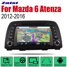 ZaiXi Android Car Radio Stereo GPS Navigation For Mazda 6 Atenza 2012~2016 Bluetooth wifi 2din Multimedia Player Audio