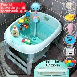 Foldable baby tubs newbaby tubs bucket double bath bucket folding up baby swiming poor