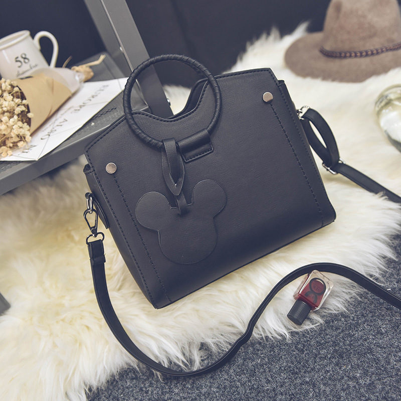 Disney New Mickey Mouse Bag Pendant PU Hand Classic Bag Messenger Storage Cartoon Fashion Bag Female Women Gift Bag Shoulder