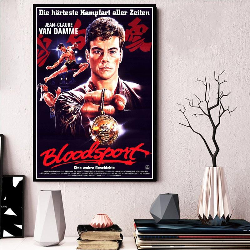 Bloodsport Blood Sport Van Damme Movie Canvas Silk Poster Wall Art Print 24x36