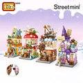LOZ мини-блок, коммерческий уличный волшебный уличный вид, Волшебный дом, морской гриб, дом для раскопок, сборочное здание