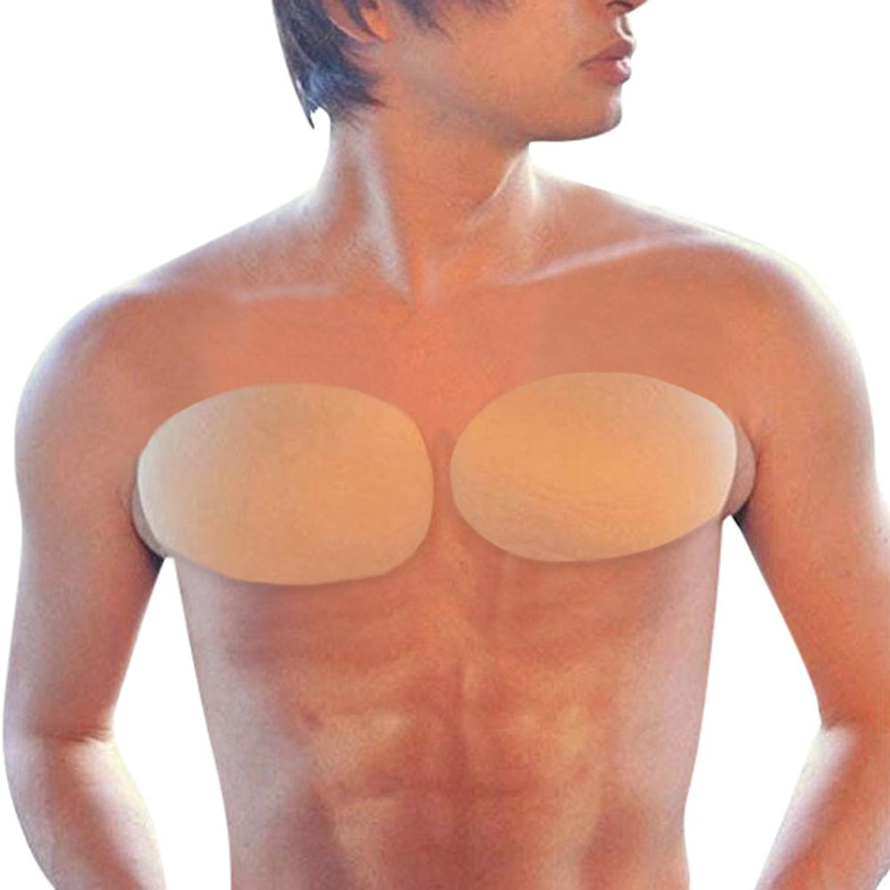 Muscle-Chest-Pads Fake Khaki Enhancers Male Shaper A16 1-Pair Foam Soft-Protection Self-Adhesive